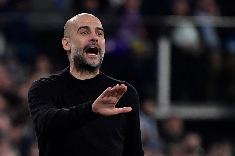 Trener Manchesteru City Josep Guardiola /AFP