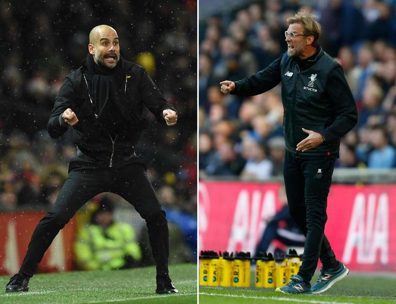 Trener Manchesteru City Pep Guardiola (z lewej) i szkoleniowiec Liverpoolu Juergen Klopp /AFP