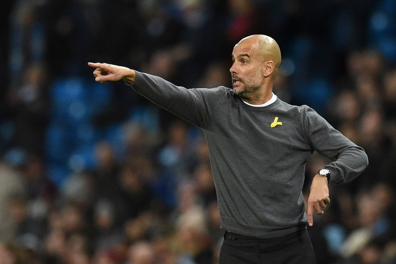 Trener Manchesteru City Pep Guardiola /AFP
