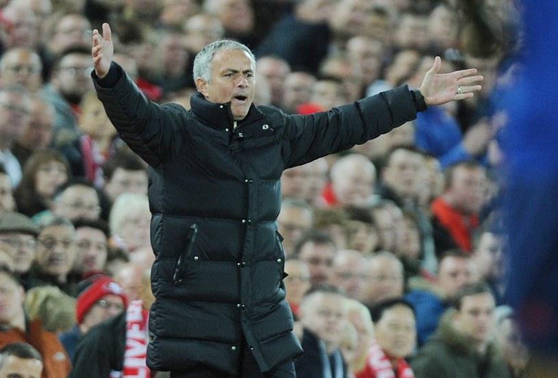 Trener Manchesteru United Jose Mourinho na Anfield Road /PAP/EPA