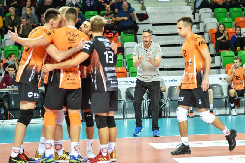 Trener Marcelo Fronckowiak (drugi z prawej) /Piotr Dziurman/REPORTER /East News
