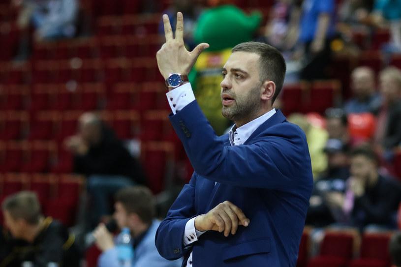 Trener Marcin Stefański /Grzegorz Jędrzejewski /Newspix