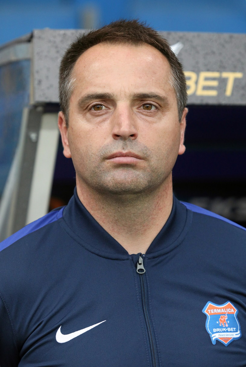 Trener Marcin Węglewski /Stanisław Rozpędzik /PAP