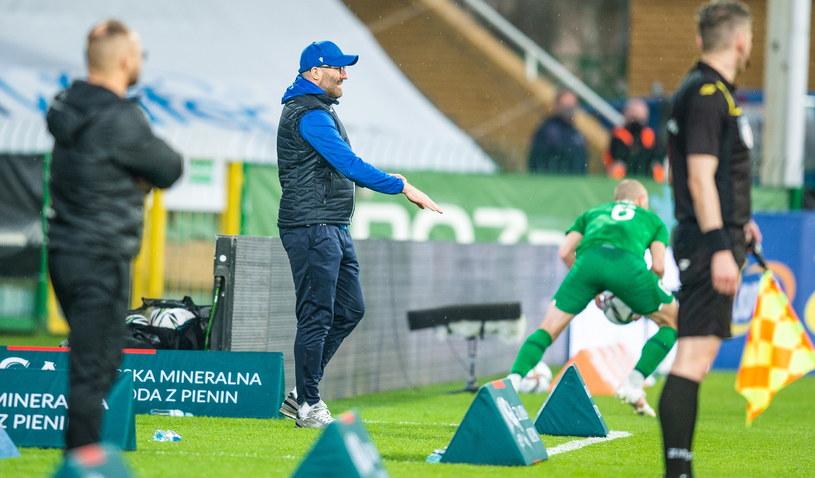 Trener Marek Papszun podczas meczu Warta Poznań - Raków Częstochowa /Damian Kosciesza / PressFocus / NEWSPIX.PL /Newspix