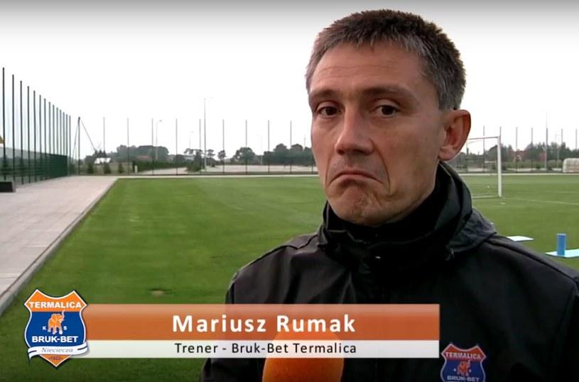 Trener Mariusz Rumak jest dobrej myśli przed meczem z Górnikiem Zabrze. /