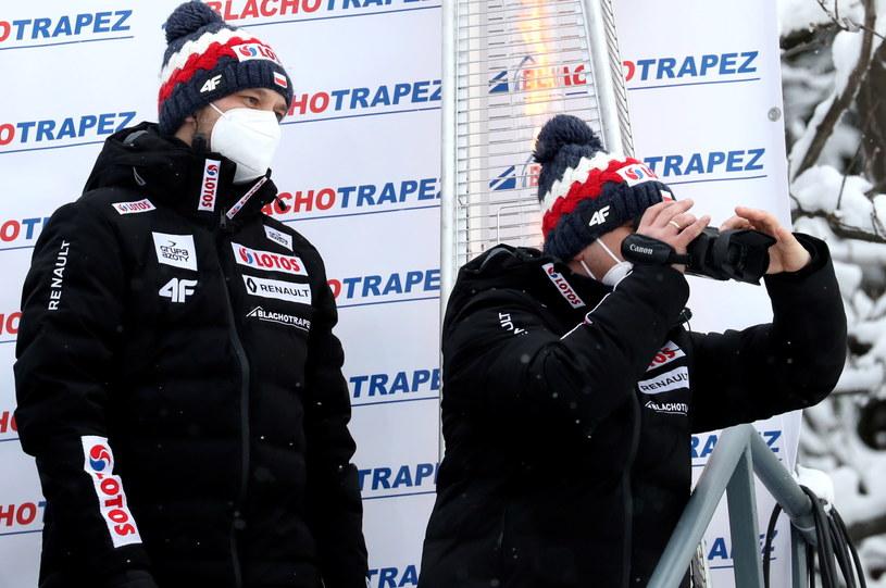 Trener Michał Doleżal (z lewej) i jego asystent Grzegorz Sobczyk / Grzegorz Momot    /PAP
