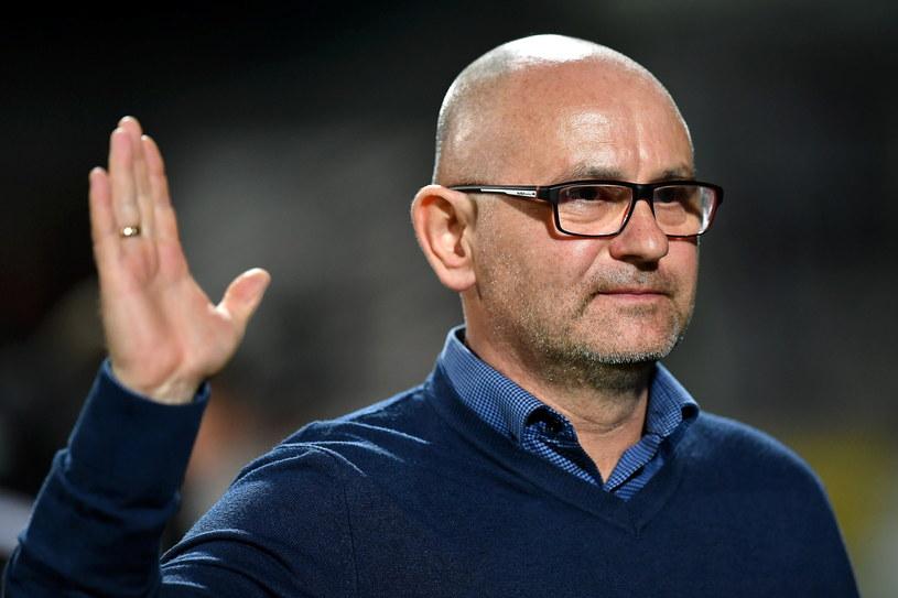Trener Miedzi Dominik Nowak po triumfie nad Cracovią /Maciej Kulczyński /PAP