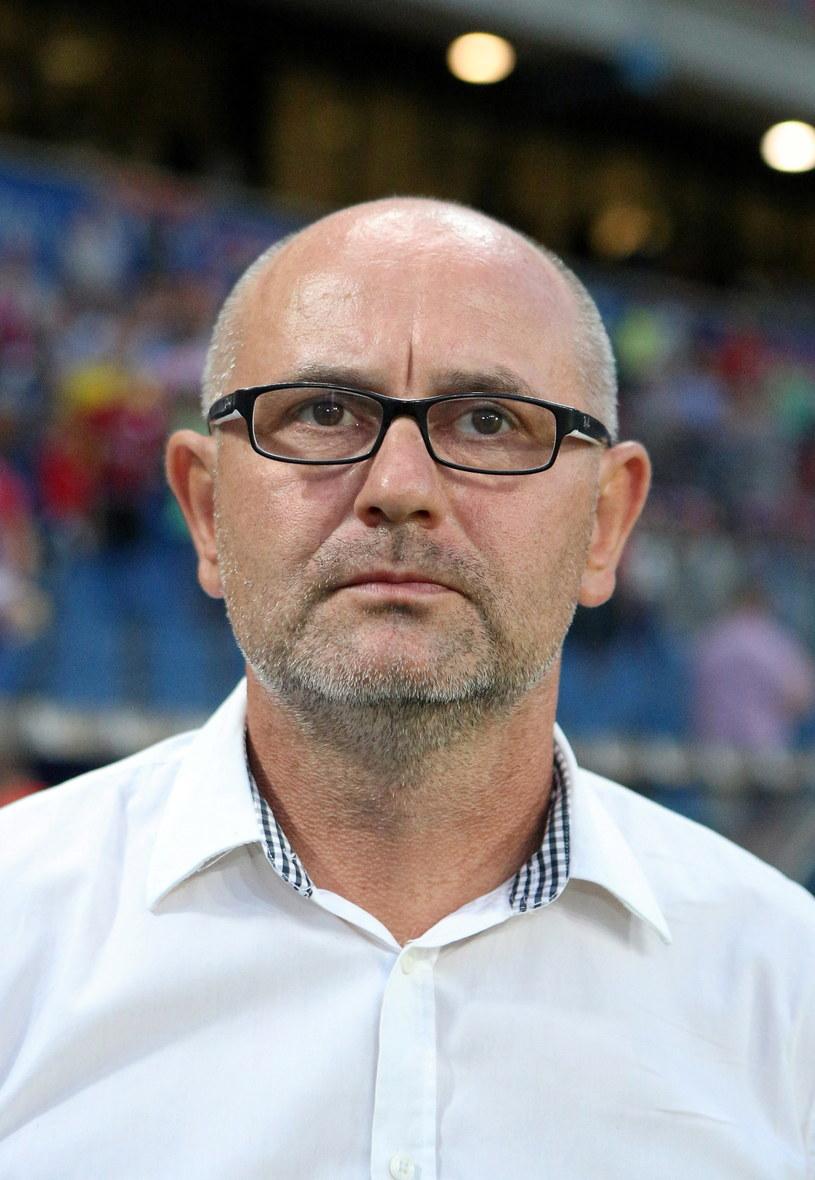 Trener Miedzi Legnica Dominik Nowak /Stanisław Rozpędzik /PAP
