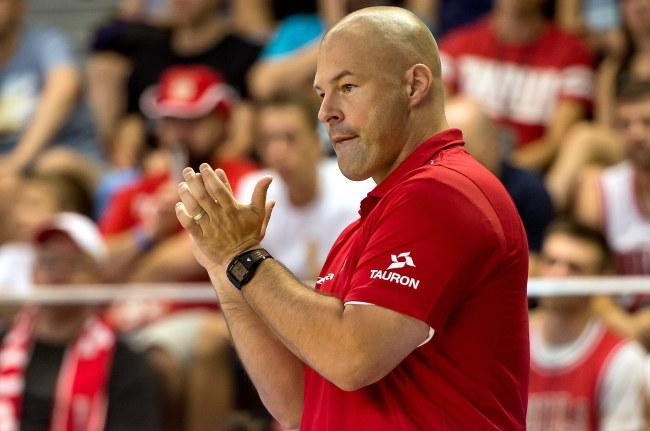 Trener Mike Taylor /Maciej Kulczyński /PAP