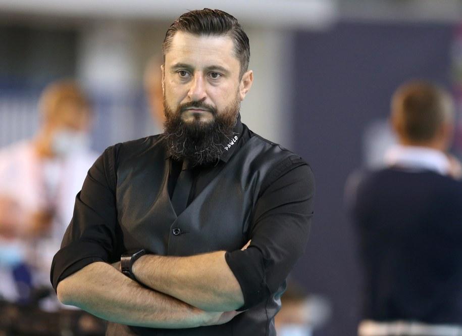 Trener MKS Będzin Jakub Bednaruk / Andrzej Grygiel    /PAP