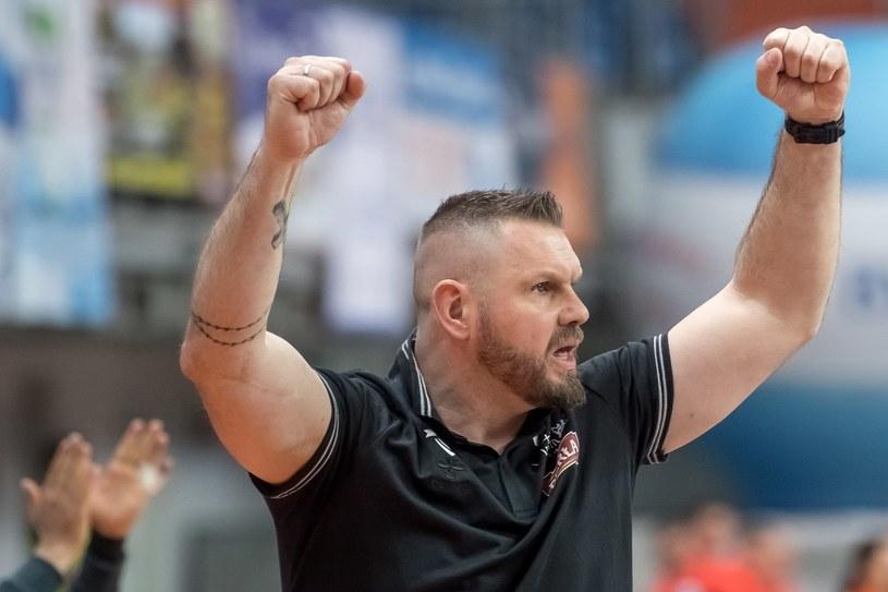Trener MKS Perły Lublin Robert Lis /Wojciech Pacewicz /PAP