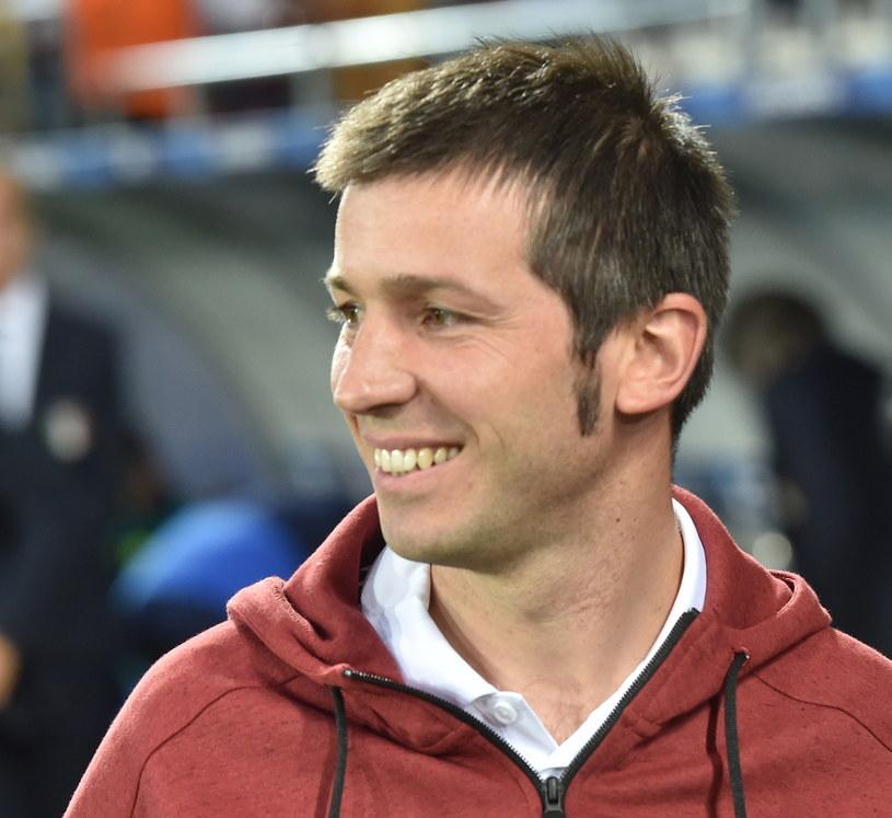 Trener młodzieżowej reprezentacji Hiszpanii Albert Celades /fot. Jacek Bednarczyk /PAP