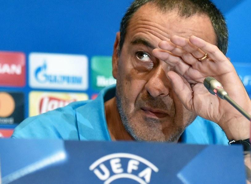 Trener Napoli Maurizio Sarri /AFP