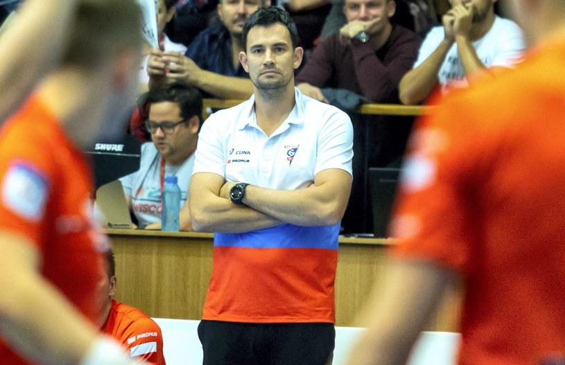 Trener NMC Górnika Zabrze Marcin Lijewski / PAP/Andrzej Grygiel /PAP