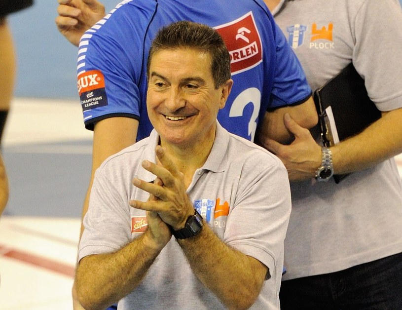 Trener Orlenu Wisły Płock Manolo Cadenas /AFP