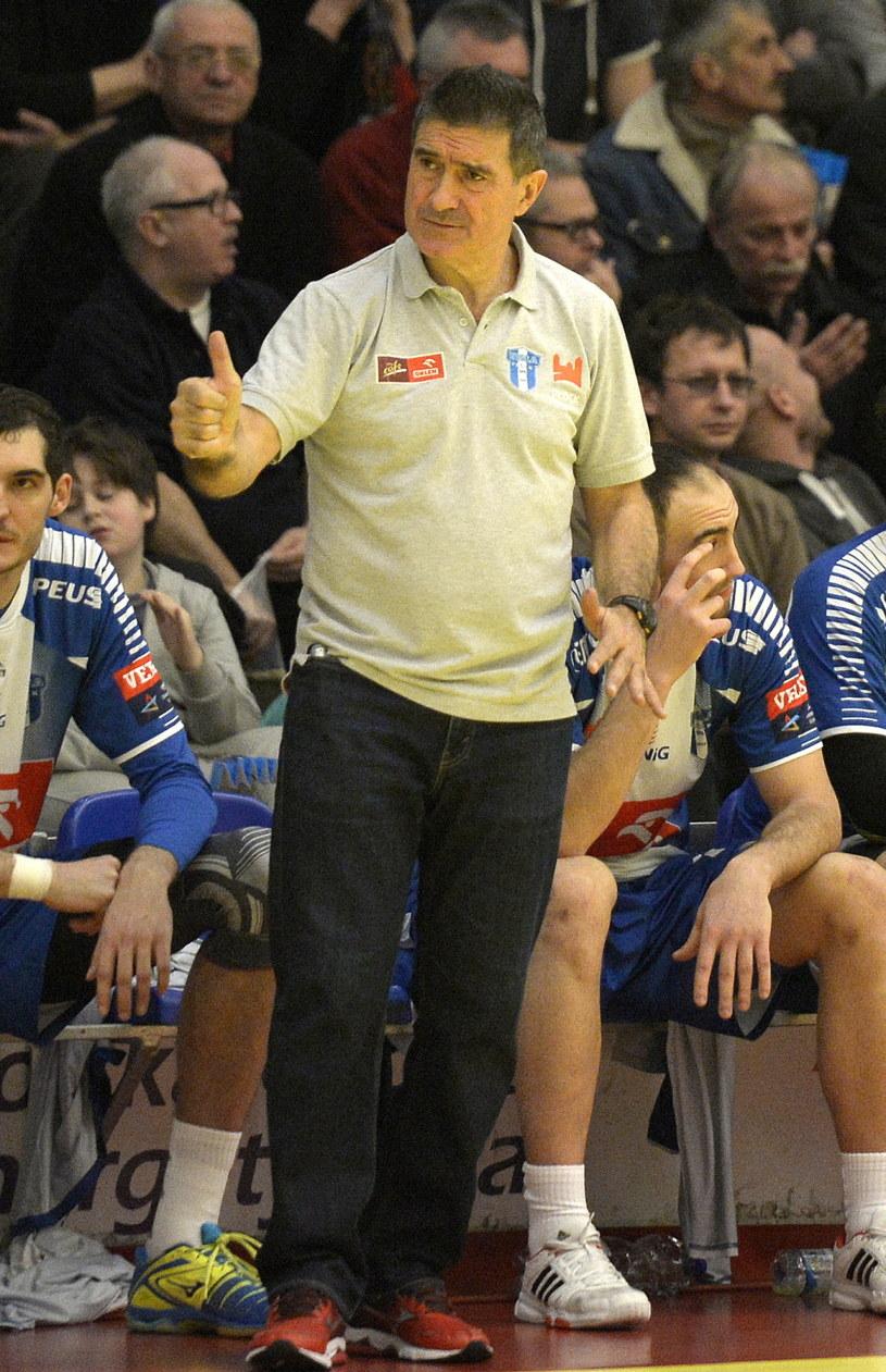 Trener Orlenu Wisły Płock Manolo Cadenas /Fot. Darek Delmanowicz /PAP