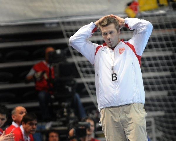 Trener Orłów Bogdan Wenta. /AFP