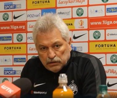 Trener Petr Nemec: Celem jest utrzymanie się w pierwszej lidze. Wideo