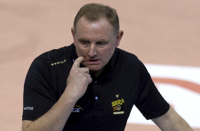 Trener PGE Skry Bełchatów Jacek Nawrocki /Fot. Grzegorz Michałowski /PAP
