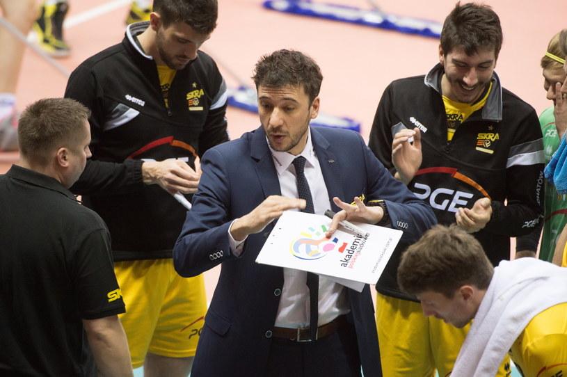 Trener PGE Skry Bełchatów Miguel Falasca /Fot. Grzegorz Michałowski /PAP