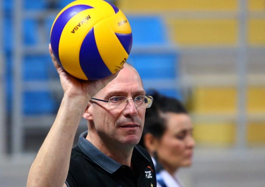 Trener PGE Skry Bełchatów Roberto Piazza /Piotr Augustyniak /PAP