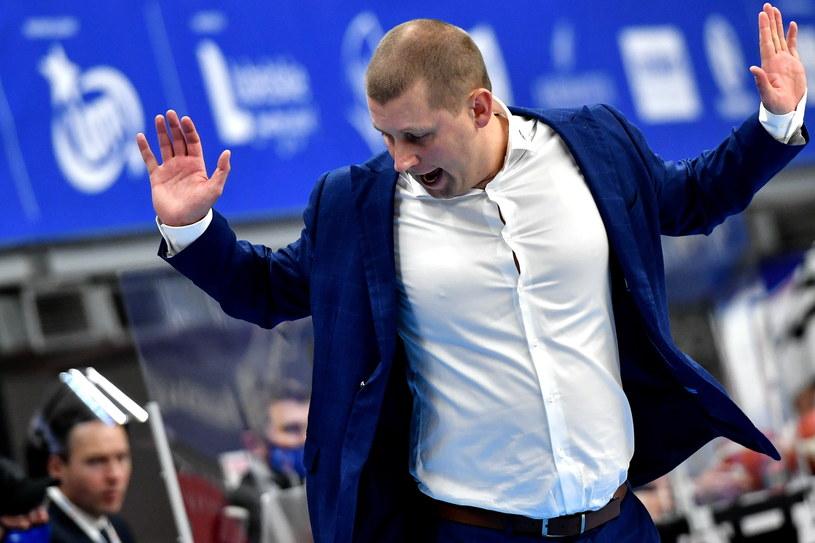 Trener PGE Spójnia Stargard Marek Łukomski /Wojtek Jargiło /PAP