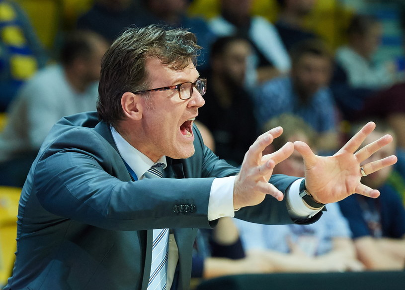 Trener PGE Turów Zgorzelec Mathias Fischer /Adam Warżawa /PAP
