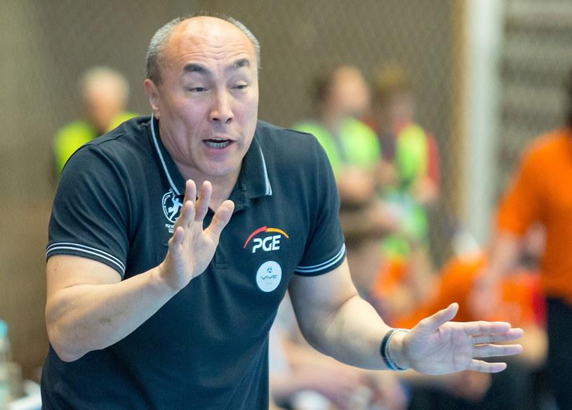 Trener PGE Vive Kielce Tałant Dujszebajew /Andrzej  Grygiel /PAP