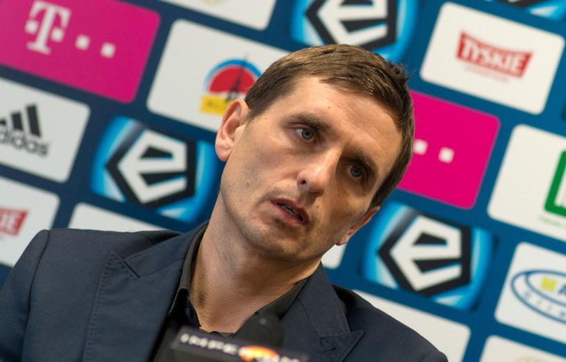 Trener Piasta Gliwice Marcin Brosz /Fot. Andrzej Grygiel /PAP