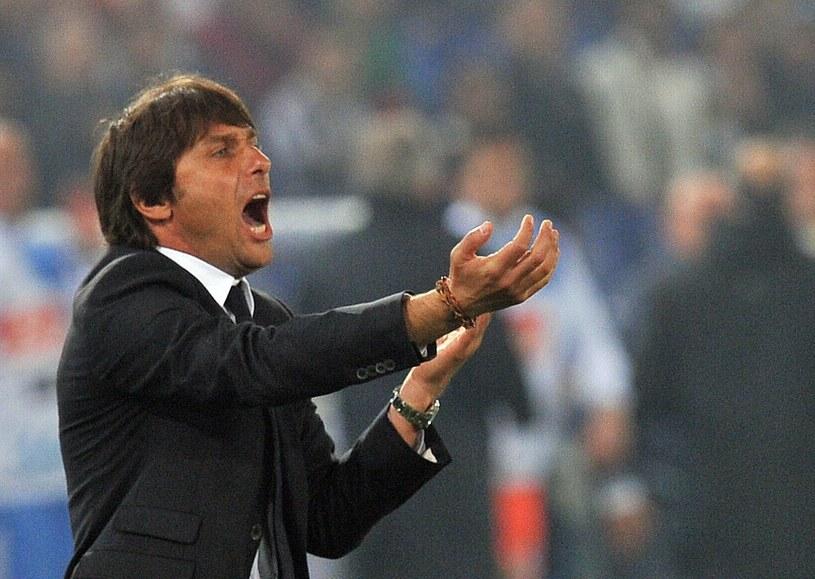 Trener piłkarskiego mistrza Włoch Juventusu Turyn Antonio Conte /. /AFP