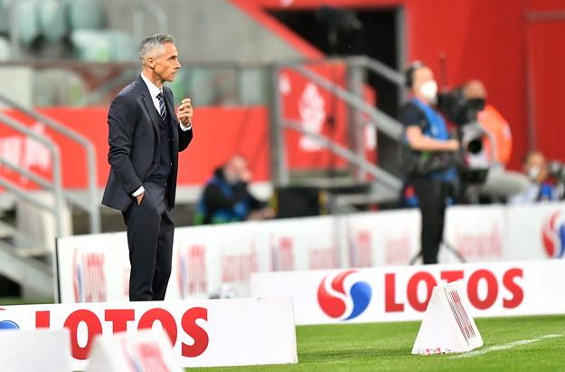 Trener piłkarskiej reprezentacji Polski Paulo Sousa podczas meczu towarzyskiego z Rosją / Maciej Kulczyński    /PAP