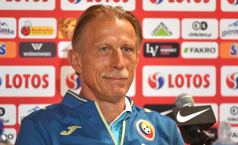 Trener piłkarskiej reprezentacji Rumunii Christoph Daum /Bartłomiej Zborowski /PAP