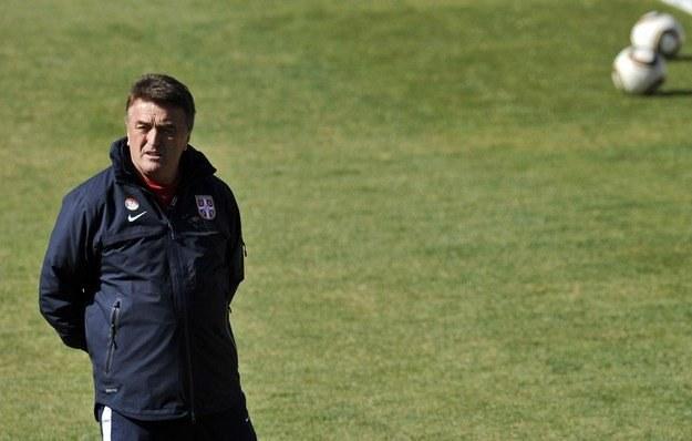 Trener piłkarskiej reprezentacji Serbii Radomir Antic /AFP