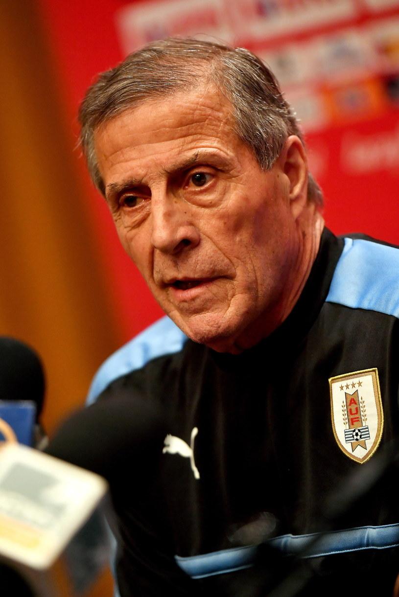 Trener piłkarskiej reprezentacji Urugwaju Oscar Tabarez /Bartłomiej Zborowski /PAP