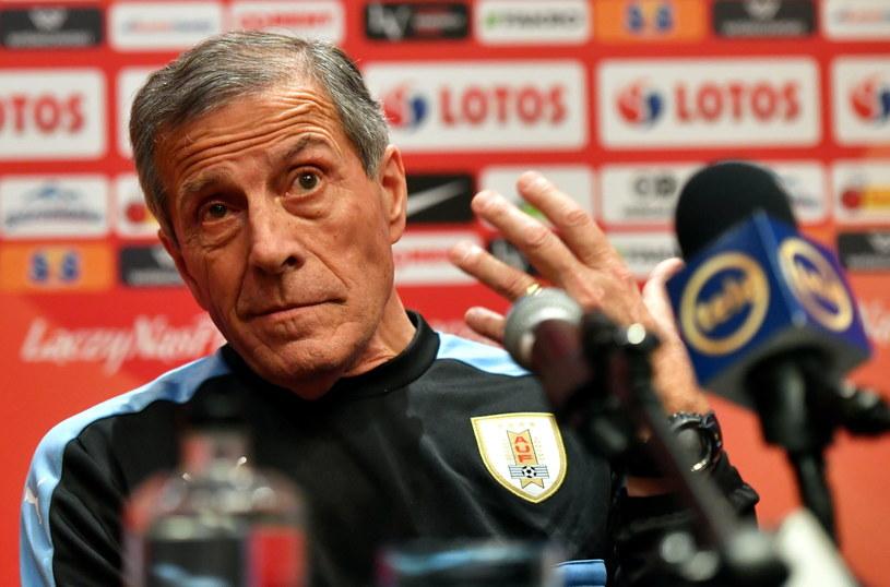 Trener piłkarskiej reprezentacji Urugwaju Oscar Washington Tabarez /Fot. Bartłomiej Zborowski /PAP
