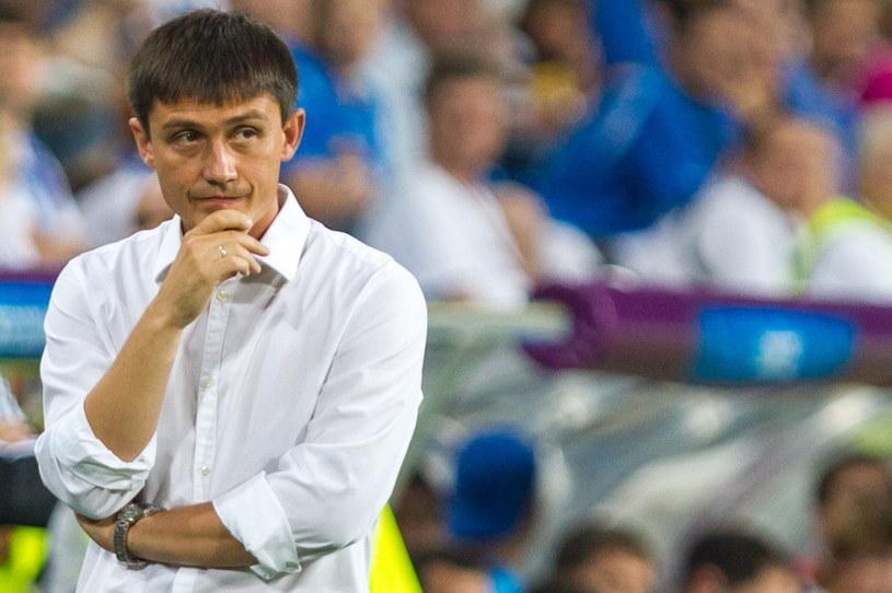 Trener piłkarzy Lecha Poznań Mariusz Rumak /Adam Ciereszko /PAP