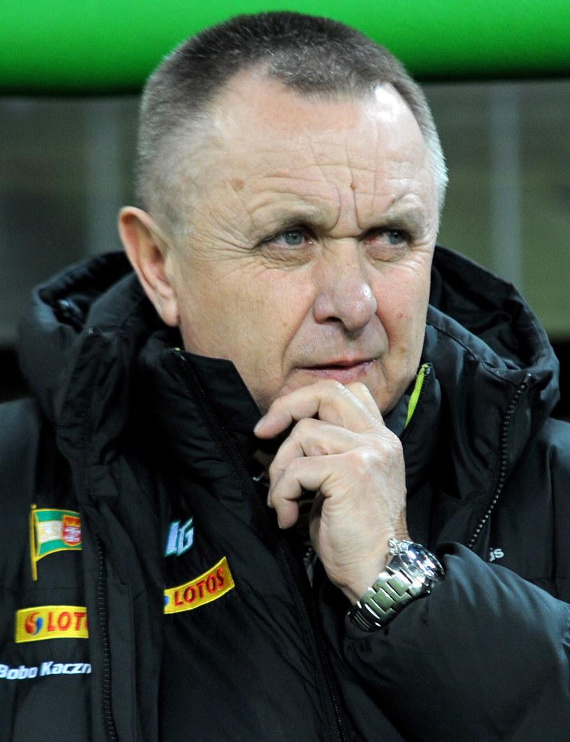 Trener piłkarzy Lechii Gdańsk Bogusław Kaczmarek /Jan Dzban /PAP