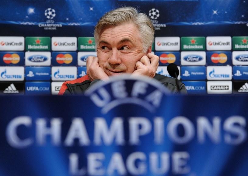Trener piłkarzy Paris Saint Germain Carlo Ancelotti /AFP