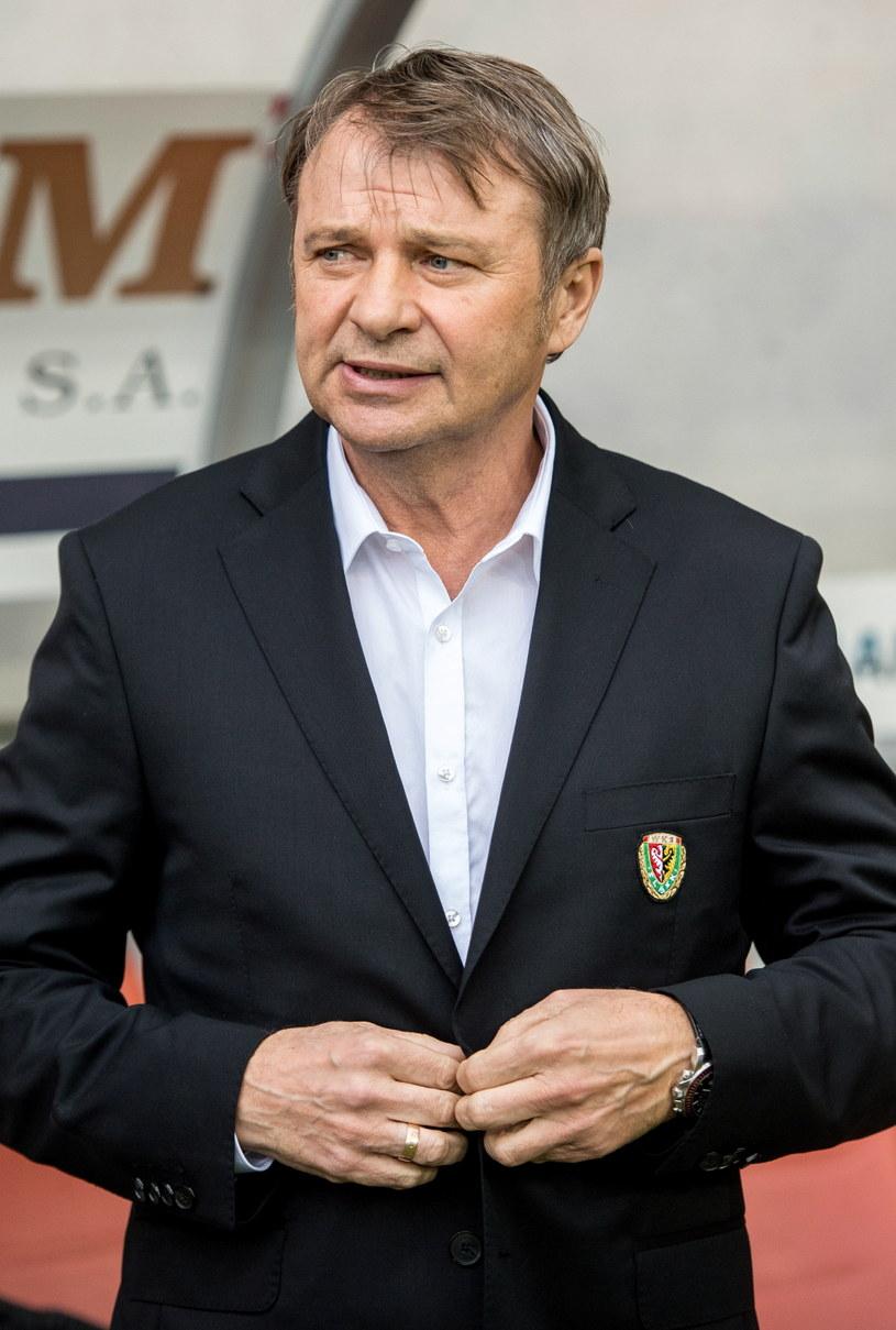 Trener piłkarzy Śląska Wrocław Tadeusz Pawłowski /Maciej Kulczyński /PAP