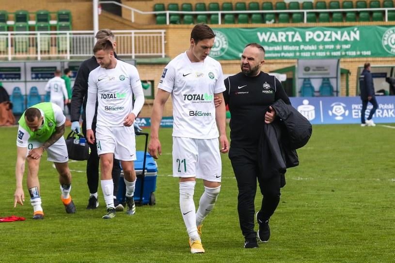 Trener Piotr Tworek i Warta Poznań po meczu z Jagiellonią Białystok / Adam Jastrzebowski /Newspix