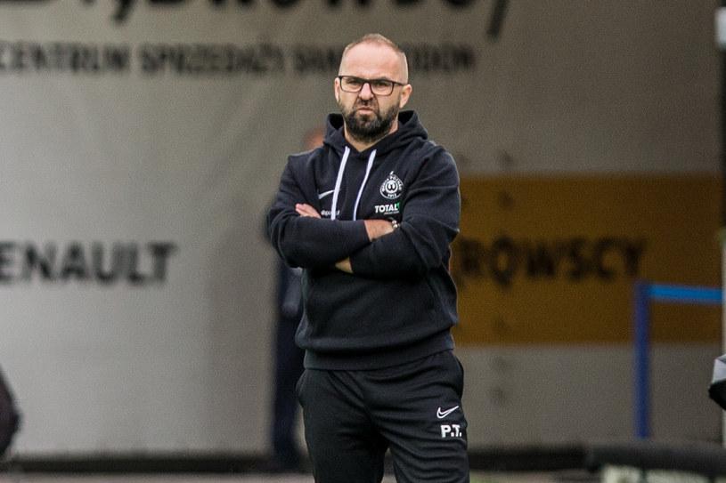 Trener Piotr Tworek z Warty Poznań w Zabrzu /Fot. Michał Chwieduk /Newspix