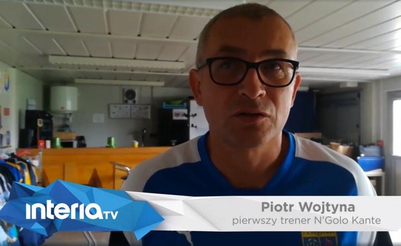 Trener Piotr Wojtyna wychowywał N'Golo Kante. /Michał Białoński /INTERIA.TV