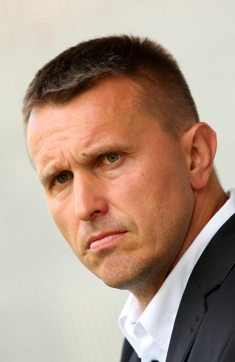 Trener Podbeskidzia Bielsko-Biała Leszek Ojrzyński /Fot. Stanisław Rozpędzik /PAP