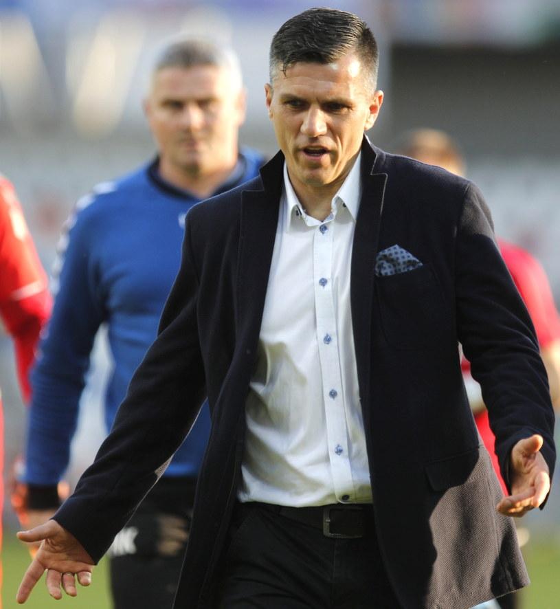 Trener Podbeskidzia Bielsko-Biała Robert Podoliński /Fot. Andrzej Grygiel /PAP