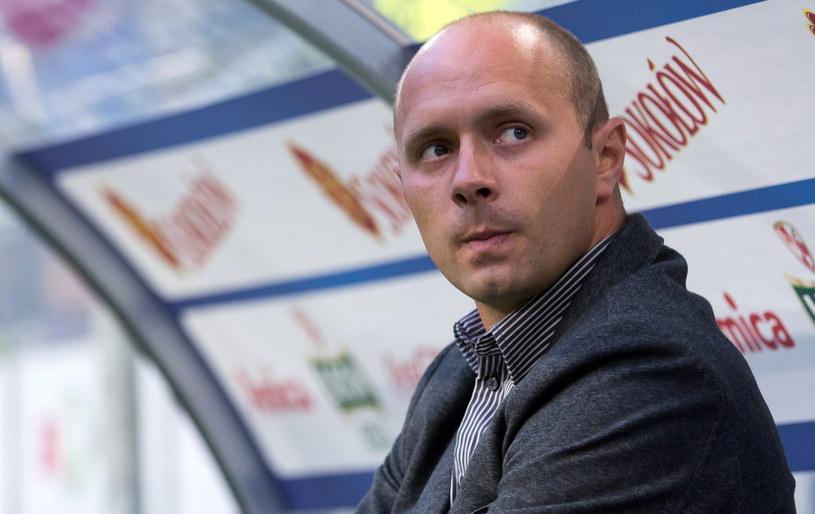Trener Pogoni Artur Skowronek /Fot. Jakub Kaczmarczyk /PAP