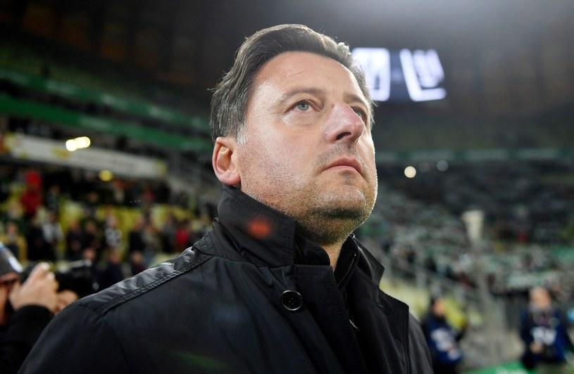 Trener Pogoni Kosta Runjaić miał pretensje do sędziego Szymona Marciniaka. /Marcin Gadomski /PAP