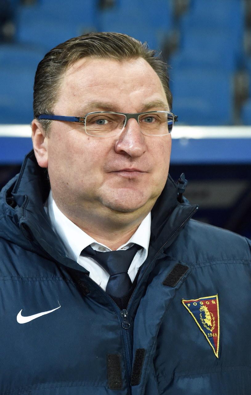 Trener Pogoni Szczecin Czesław Michniewicz /Jacek Bednarczyk /PAP