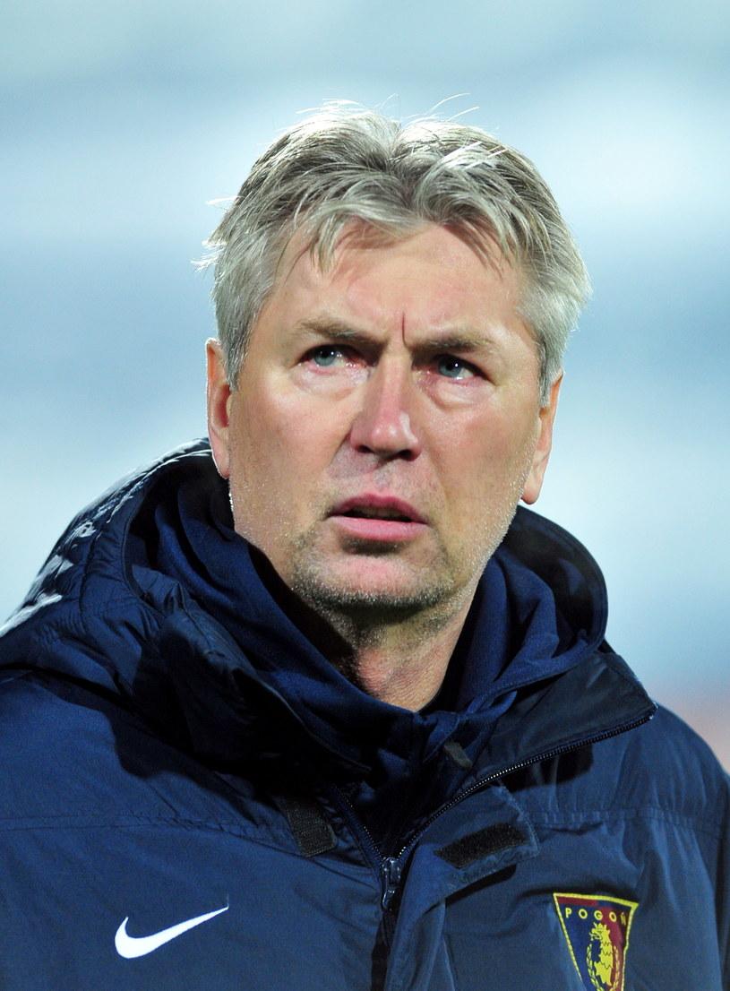 Trener Pogoni Szczecin Jan Kocian. /Maciej Bielecki /PAP