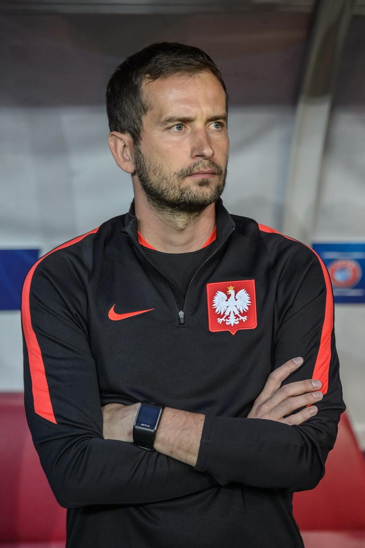 Trener Polaków Marcin Dorna. /Wojciech Pacewicz /PAP
