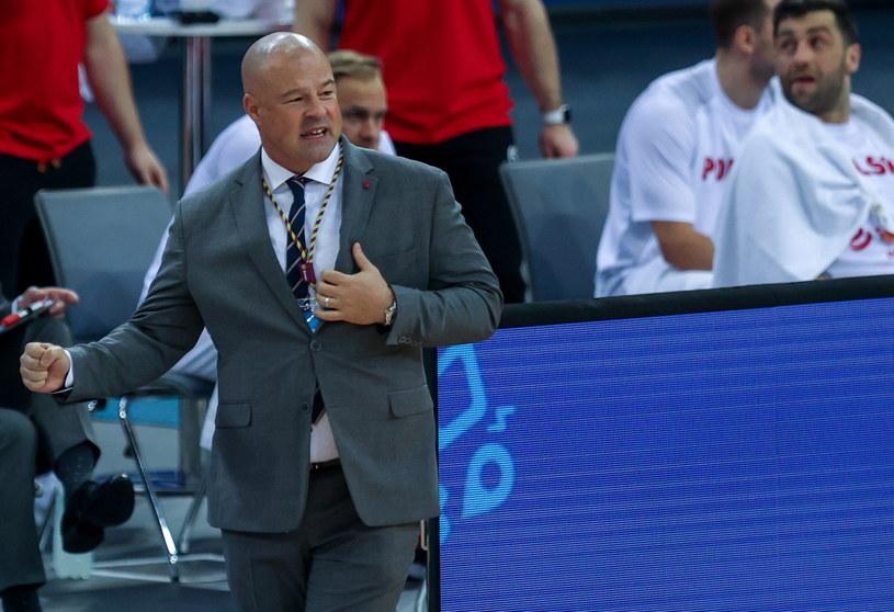 Trener polskich koszykarzy Mike Taylor /PAP